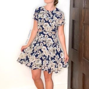 Bardot, Brianna, Floral Cutout Mini Dress